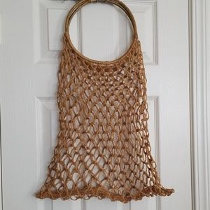 Summer woven rattan tote
